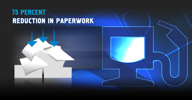 reduction in paperwork