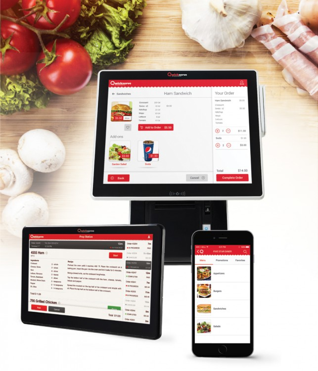 Qwickserve is a Foodservice Made-to-Order Self-Service Kiosk